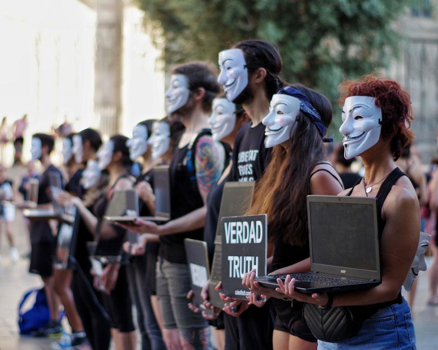 segundo aniversario anonymous for the voiceless barcelona