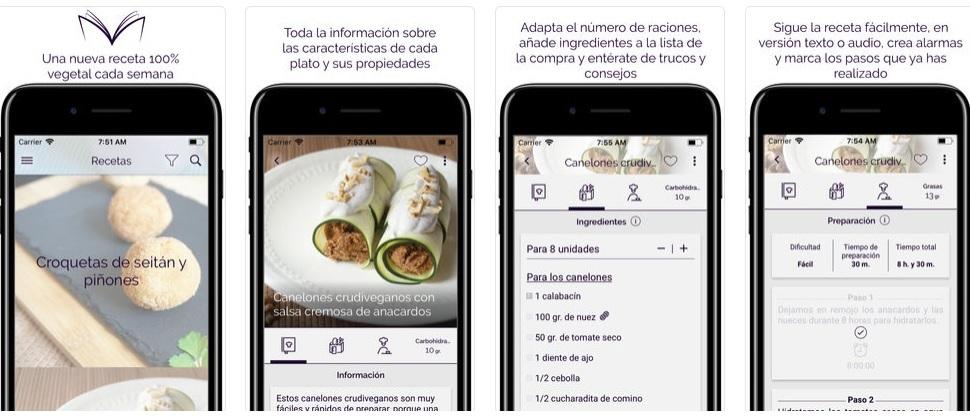 app de recetas veganas